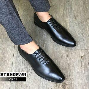 Giày công sở nam kiểu dáng cột dây Oxfords CS02