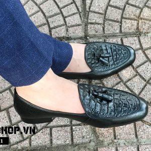 Giày lười nam chất liệu da bò cao cấp DL1