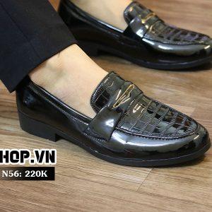 Giày lười nam dập vân giá rẻ N56