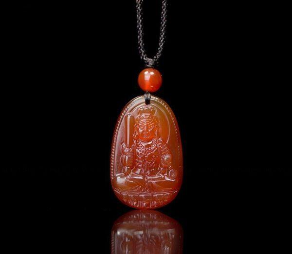 Phật bản mệnh bất động minh vương đá mã não đỏ MBDMV2
