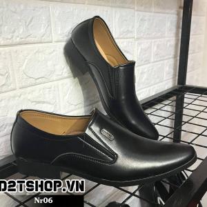 Giày lười nam công sở giá rẻ Nr06 Đen lỳ