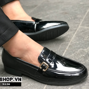 Giày lười nam giá rẻ da bóng N126