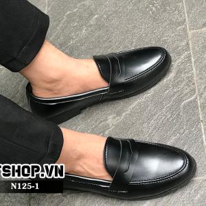 Giày lười nam giá rẻ da lỳ đai khoét N125 - D2tshop.vn
