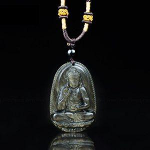 Phật bản mệnh A Di Đà làm từ đá núi lửa cho tuổi tuất , hợi MADD4