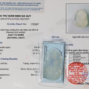 Phật Bản Mệnh Hư Không Tạng Bồ Tát mã não trắng bản to MHKBT2
