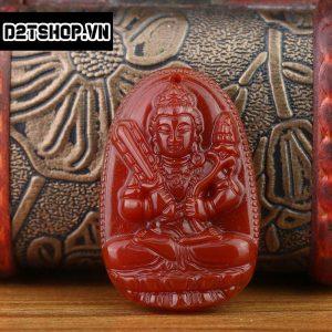 Phật Bản Mệnh Hư Không Tạng Bồ Tát đá mã não đỏ bản to MHKBT10