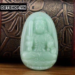Phật bản mệnh Bất Động Minh Vương thạch anh xanh bản to MBDMV9