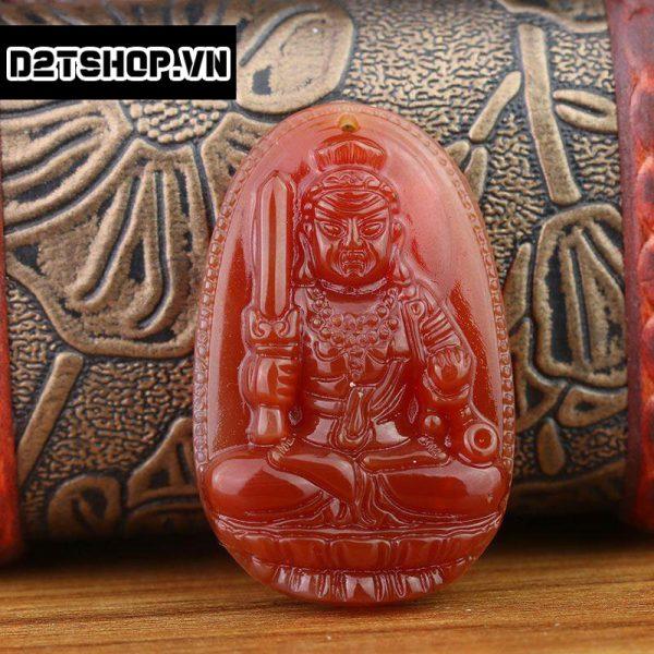 Phật Bản Mệnh Bất Động Minh Vương Mã Não Đỏ Bản To MBDMV6
