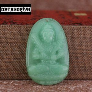 Phật Bản Mệnh Hư Không Tạng Bồ Tát thạch anh xanh bản to MHKBT9