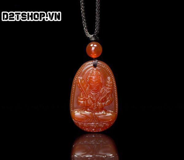 Phật bản mệnh hư không tạng bồ tát đá mã não đỏ bản nhỏ MHKBT3