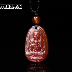 Phật Bản Mệnh Như Lai Đại Nhật đá mã não đỏ bản nhỏ MNLDN3