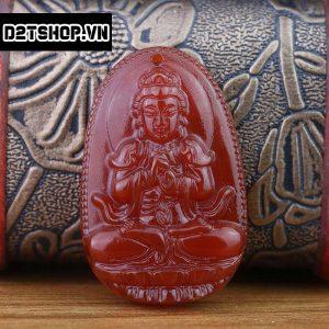 Phật Bản Mệnh Như Lai Đại Nhật đá mã não đỏ bản to MNLDN4