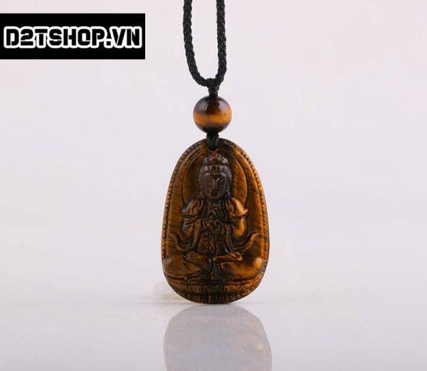 Phật Bản Mệnh Như Lai Đại Nhật đá mắt hổ nâu vàng bản nhỏ MNLDN5
