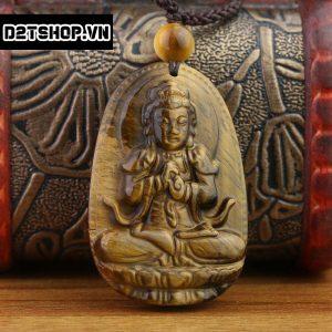 Phật Bản Mệnh Như Lai Đại Nhật đá mắt hổ nâu vàng bản to MNLDN6