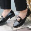 Giày lười nam giá rẻ kiểu dáng da bóng kết hợp mặt hổ N55-4