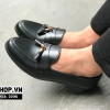 Giày lười nam giá rẻ chất liệu da lì kết hợp chuông N54