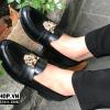 Giày lười nam giá rẻ chất liệu da lì kết hợp mặt hổ N54-4
