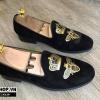Giày lười nam giá rẻ kiểu dáng nhung thêu ong vàng N139
