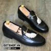 Giày lười nam giá rẻ thêu họa tiết lông vũ trắng N146