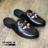 Giày sục nam thêu họa tiết ong đỏ S02