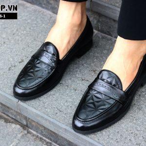 Giày lười nam da bò D8-1