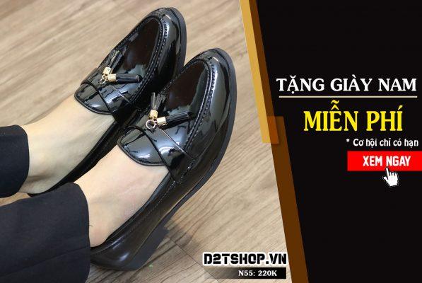 Tặng giày nam miễn phí tại D2Tshop