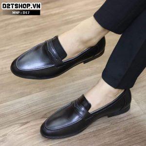 Giày lười nam da bò D17