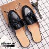 Giày sục nam giá rẻ kiểu dáng chuông da bóng S12