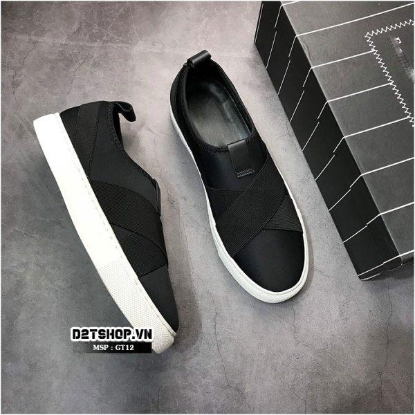 Giày slip on nam chất liệu vải kết hợp chun GT12