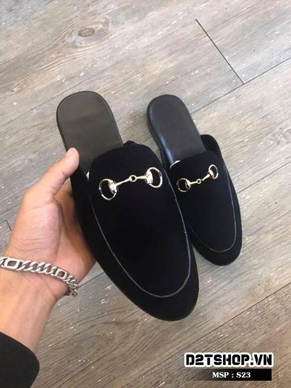 Giày sục nam nỉ trơn giá rẻ